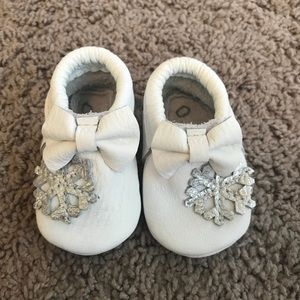 Other - While snowflake baby moccasins